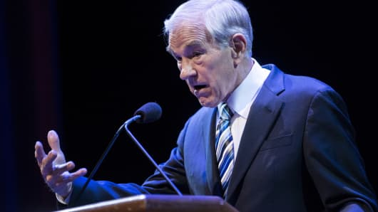 Former US Representative Ron Paul (R-TX).