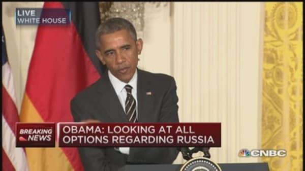 Obama: No decision on sending weapons to Ukraine