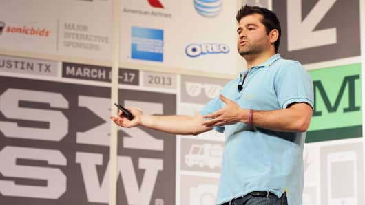 Indiegogo cofounder and CEO Slava Rubin speaks at Go Fund Yourself in Austin, Texas.