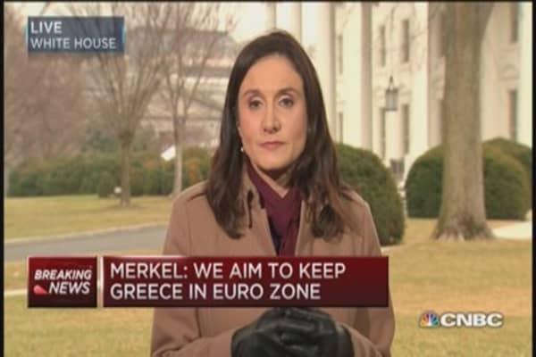 Merkel: Aim to keep Greece in euro zone