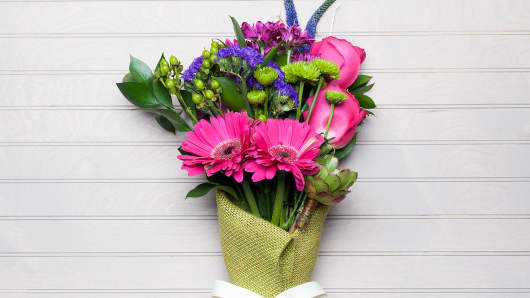 A flower arrangement ordered through UrbanStems.
