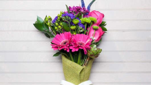 A flower arrangement ordered through UrbanStems.