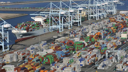 The loading and unloading of cargo freighters has been suspended at all 29 U.S. West Coast ports this weekend because of chronic slowdowns on the docks that shippers and terminal operators have blamed on the dockworkers' union, the companies said Friday.
