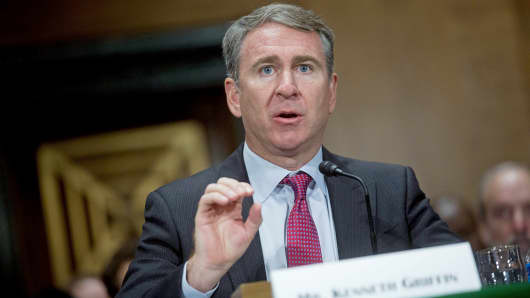 Citadel founder and CEO Kenneth Griffin speaks during a hearing in Washington on July 8, 2014.