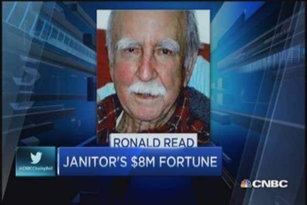 Janitor's $8 million fortune