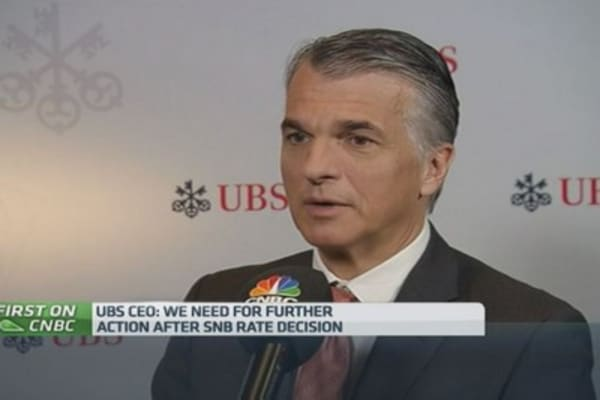 No need for us to take new action after SNB move: UBS