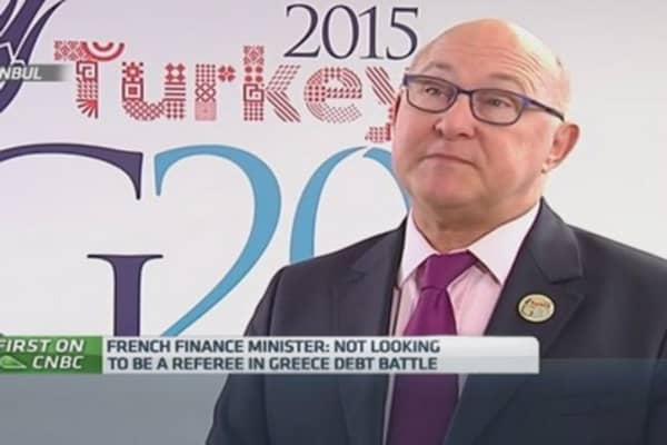 I'm not a referee in Greek debt talks: French Fin Min