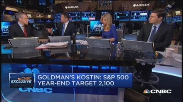 Goldman's Kostin: Valuations stretched