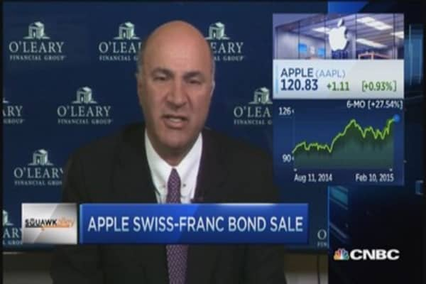 O'Leary: Apple Swiss-franc bond sale dumb?