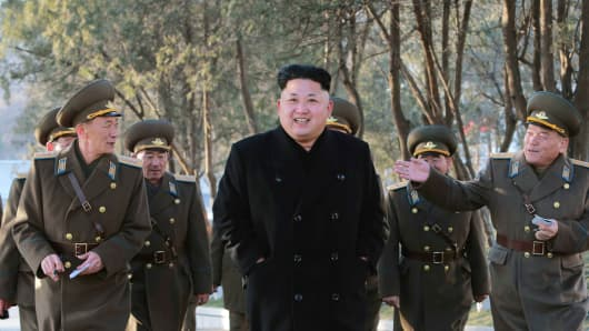 North Korean leader Kim Jong Un (C) inspects the Korean People's Army in this undated photo released by North Korea's Korean Central News Agency (KCNA) in Pyongyang, January 13, 2015.