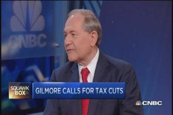 Gilmore eyes tax cuts and White House