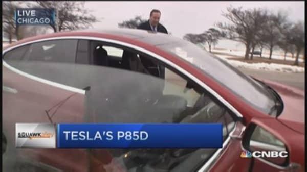 LeBeau tests Tesla's insane mode