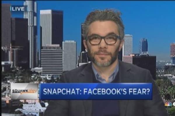 Facebook afraid of Snapchat: Bilton
