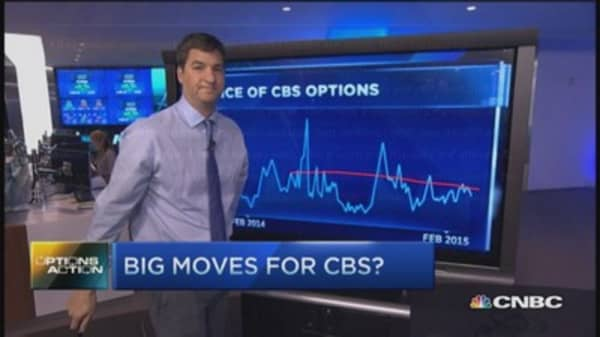 Options Action: Big moves for CBS