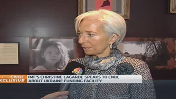 IMF chief on Ukraine funding