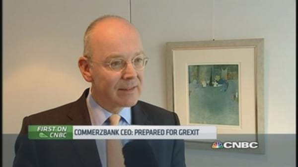 Commerzbank CEO is 'prepared' for Grexit
