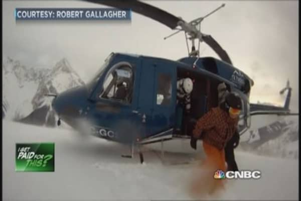 I get paid to be a heli-ski helicopter pilot