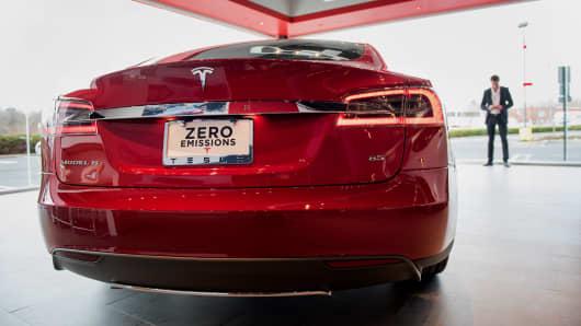 A Tesla model S