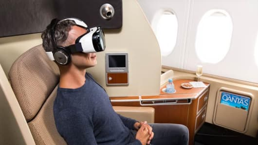 Qantas virtual reality headsets to be tested on some A380 flights