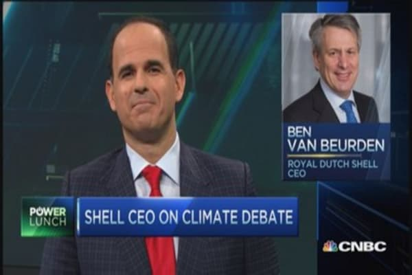 Shell CEO: Step up against climate change