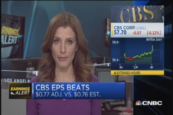 CBS beats EPS by a penny