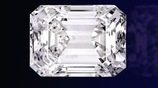 This extraordinary 100-carat perfect diamond in a classic emerald cut was sold by Sotheby's on April 21st.