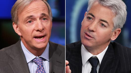 Ray Dalio, left, and Bill Ackman