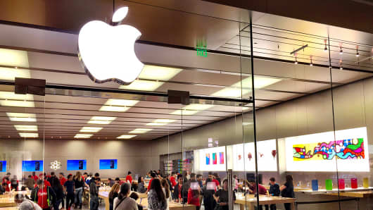 An Apple store in Cerritos, Calif., is shown, Jan. 30, 2015.