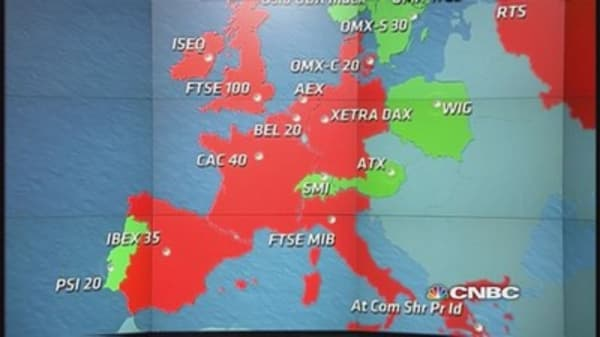 European markets end lower; Greece down 4%