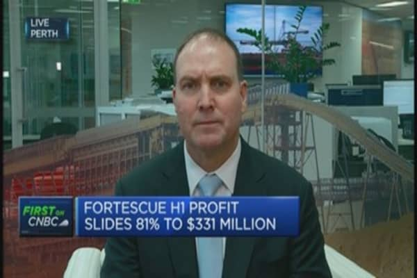 Fortescue maintains production target despite profit fall