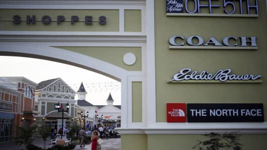 The Outlet Shoppes of The Bluegrass stand in Simpsonville, Kentucky.