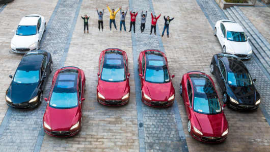 Employees at this company received brand new Tesla's as their bonus.