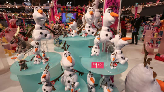 The equivalent of more than seven football fields filled with brand-new toys and games were unveiled in New York City at the 112th North American International Toy Fair taking place February 14-17, 2015 at the Jacob K. Javits Convention Center in New York.