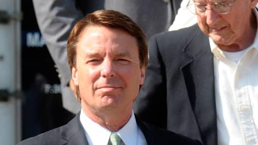 Former U.S. Sen. John Edwards.