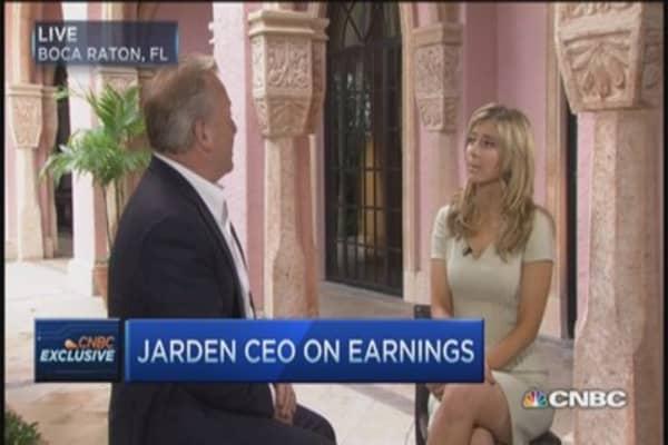 Jarden says consumer healthy