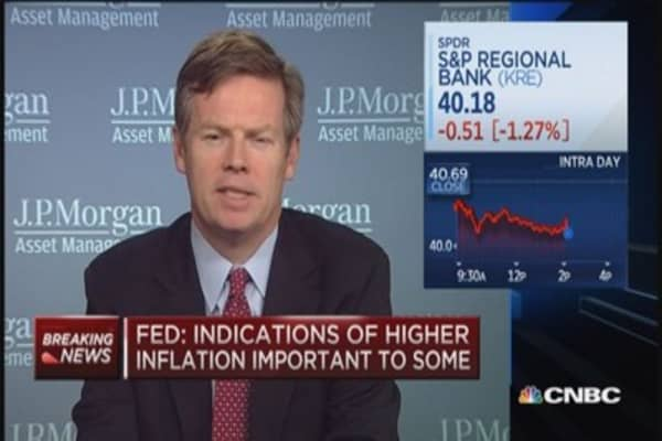 Fed discusses timing of rate hike