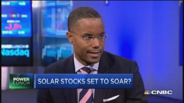 Solar stocks heat up