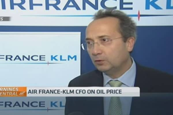 Air France-KLM CFO on oil prices