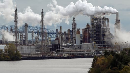 The Philadelphia Energy Solutions refinery is shown Oct. 24, 2014, in Philadelphia.
