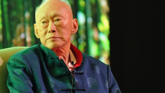 Singapore's former prime inister and elder stateman Lee Kuan Yew