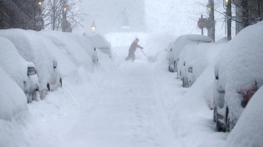 Winter storm boston
