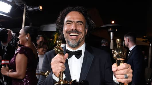 Director Alejandro Gonzalez Inarritu, winner of Best Original Screenplay, Best Director, and Best Motion Picture for 'Birdman' attends the 87th Annual Academy Awards Governors Ball at Hollywood & Highland Center on February 22, 2015 in Hollywood, California.