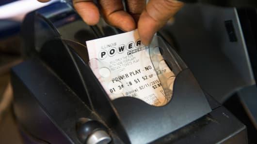 Powerball lottery ticket