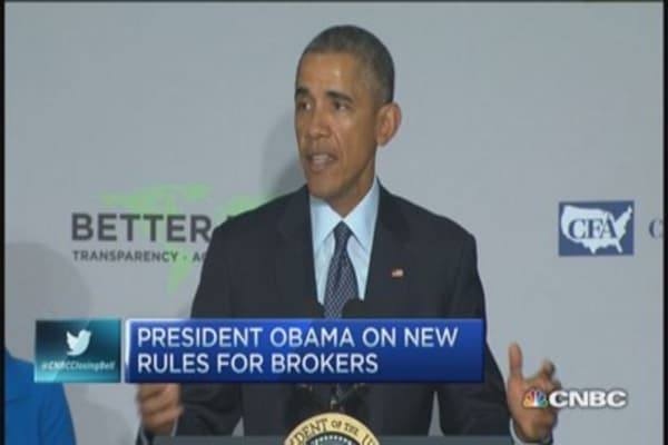 Obama: New rules for brokers & retirement accounts
