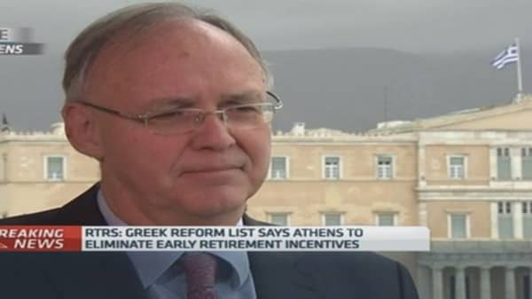 Greek reforms are a U-turn: Ex-minister