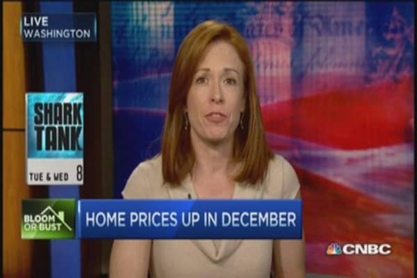 Home prices show strength