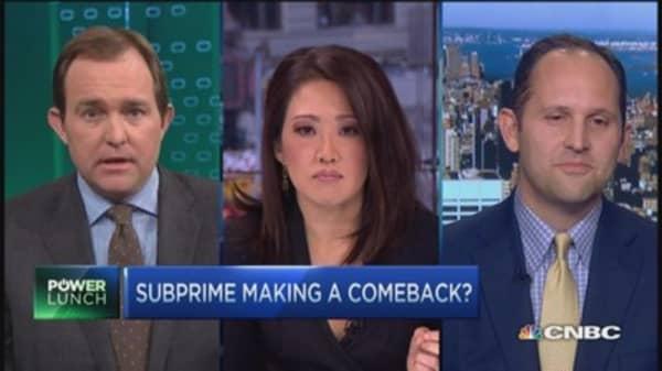 Subprime making a comeback?