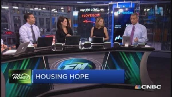 Bank stocks bounce, housing rallies