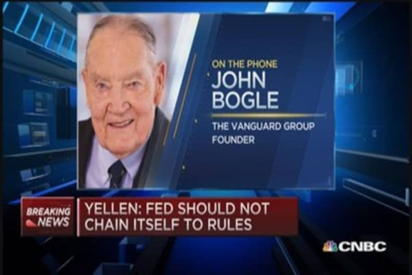 Bogle: No bubble, investors will win in long run