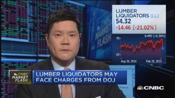 Lumber Liquidators tanks after hinting at bad press